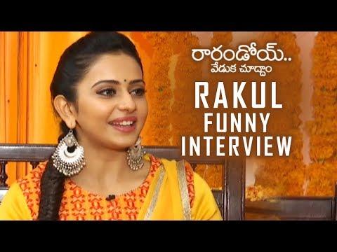 Rakul Preet Singh Funny Interview About Rarandoi Veduka Chuddam | TFPC