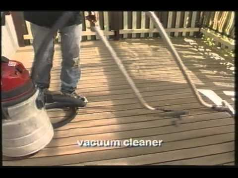 Sanding a deck - hiretech equipment checklist