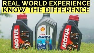 MOTUL 7100 VS SHELL ADVANCE ULTRA BEST SYNTHETIC ENGINE OIL FOR BIKES TVS, BAJAJ, HONDA, YAMAHA