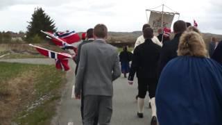 Gratulerer med dagen Norge! Toget Nasjonaldagen 17. mai 2016. Klubben Grendalag Frøya