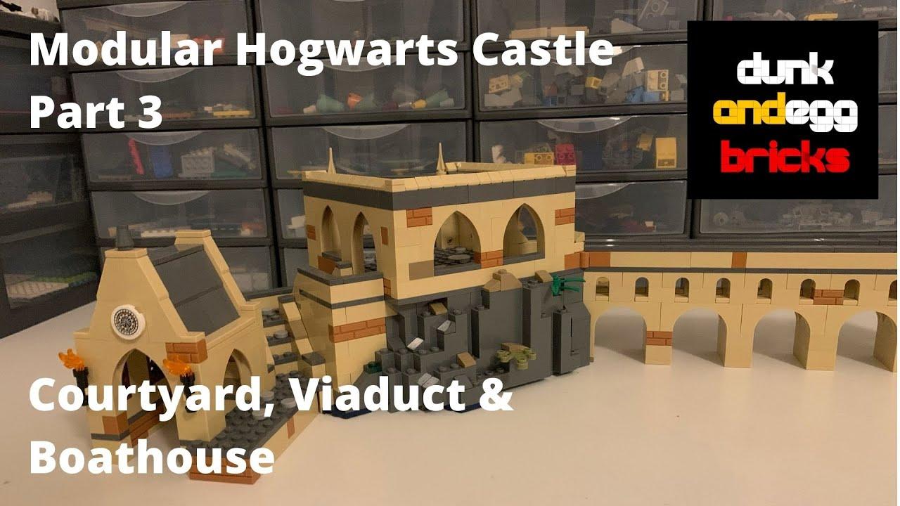 Download LEGO Harry Potter Hogwarts Castle MOC, Part 3 - Courtyard, Viaduct & Boathouse