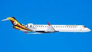 Uganda Airlines FIRST Bombardier CRJ-900 (CRJ9) in action in  Montreal (YMX/CYMX)