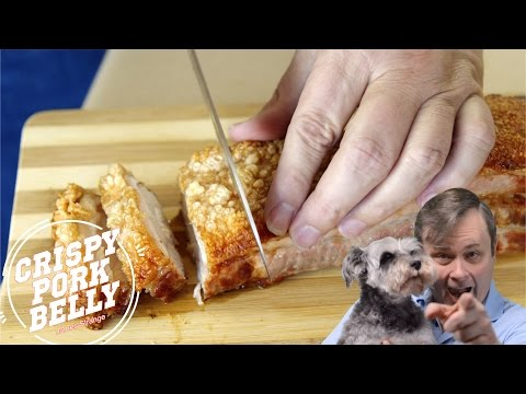 Roasted Pork Belly With Crispy Crackling Recipe / English Closed Captions