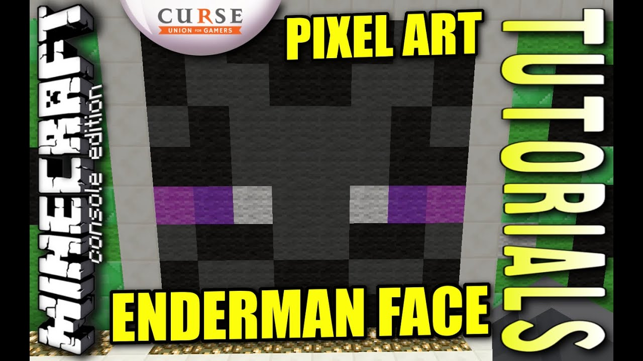 minecraft ps4 enderman face pixel art how to