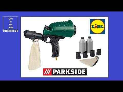 Parkside Pneumatic Air Sandblaster Gun Pdsp 1000 B2 Unboxing