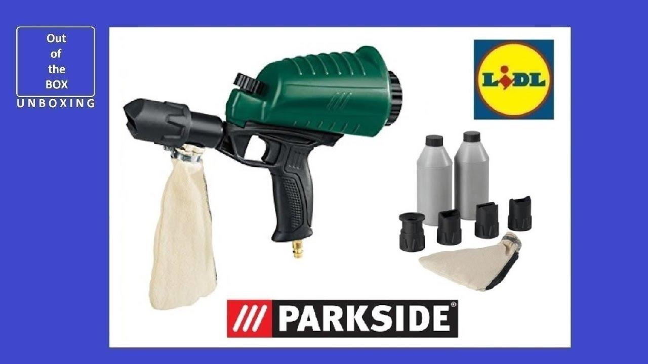 Parkside Pneumatic Air Sandblaster Gun Pdsp 1000 B2 Unboxing Lidl 63 Bar Max 260 Lmin