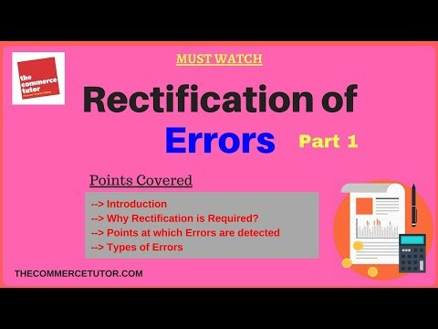 Rectification of Errors Part 1 Hindi