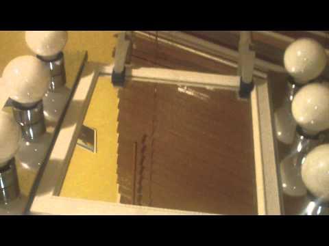 diy vanity and lighted mirror youtube. Black Bedroom Furniture Sets. Home Design Ideas
