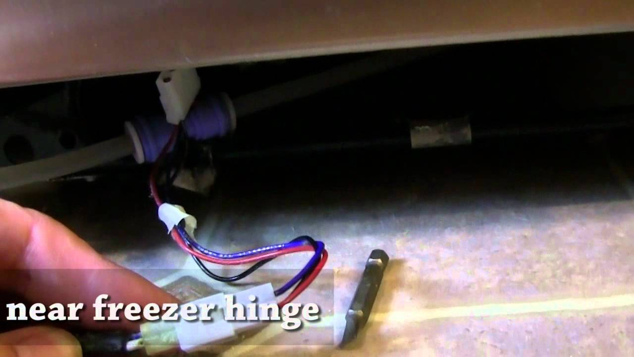 Fixing GE Side by Side Refrigerator Water Dispenser  YouTube