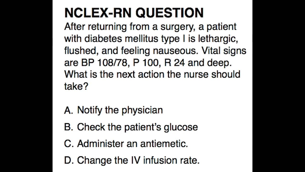 NCLEX-RN Review: Question 1 (with answer and explanation