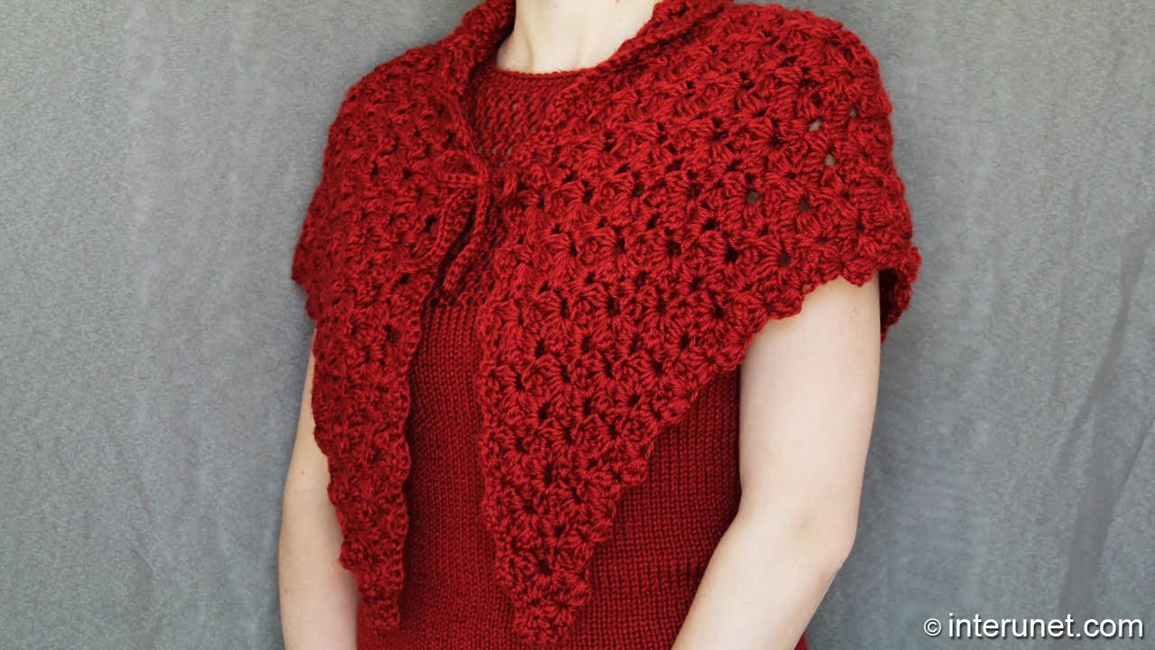 How to crochet a shawl - video tutorial with detailed i ...