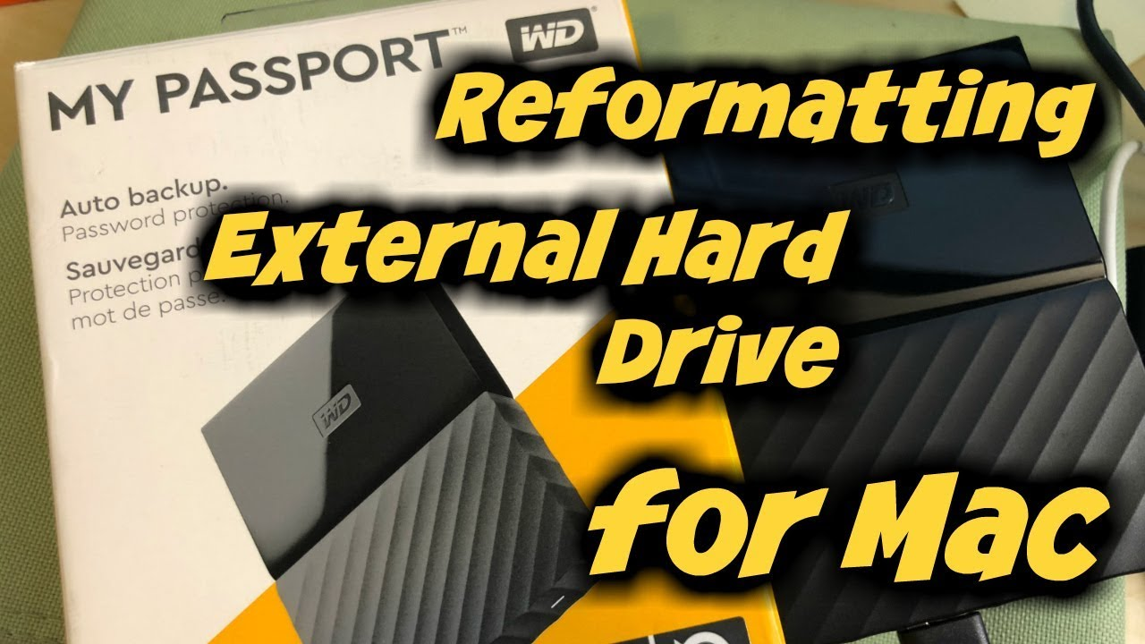 How To Reformat Wd My Passport For Mac