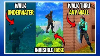 *NEW* SEASON 5 Glitches | WALK THRU WALLS | INVISIBLE BASE | WALK UNDER WATER (Fortnite Glitches)