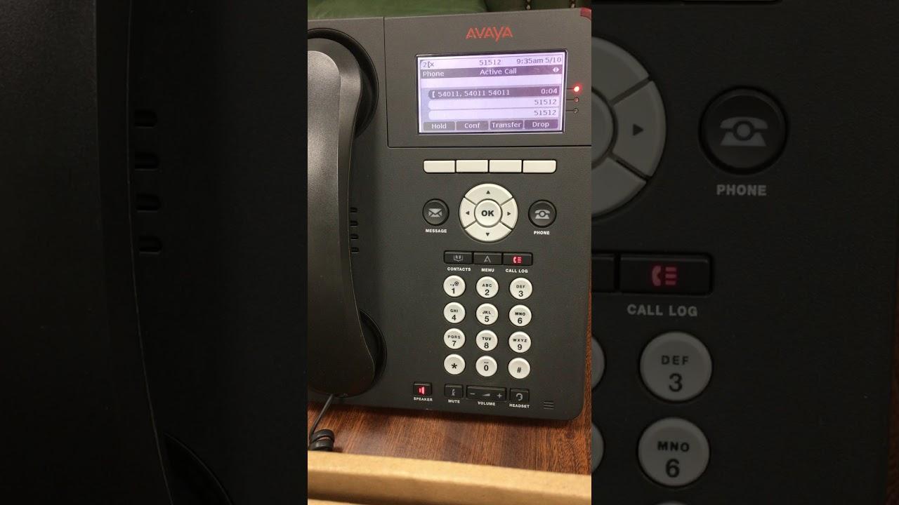 conference call on avaya 9620