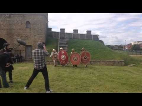 Northern Stars filming at Arbeia Roman Fort