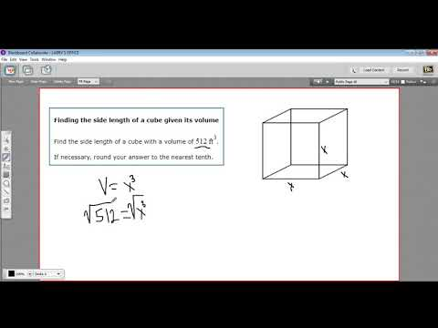 Finding the side length of a cube given its volume