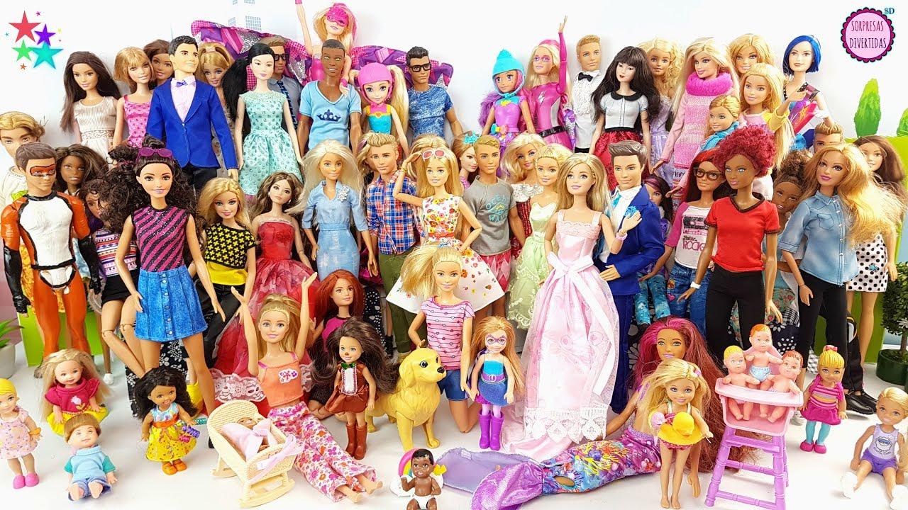 7e3f33f35 Mi colección de 50 muñecas BARBIE !! Ken