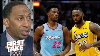 FIRST TAKE | Stephen A. NO CHANCES Heat upset Lakers at NBA Finals, not on same level, at least now