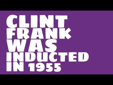 When was Clint Frank inducted into the College Football Hall of Fame?
