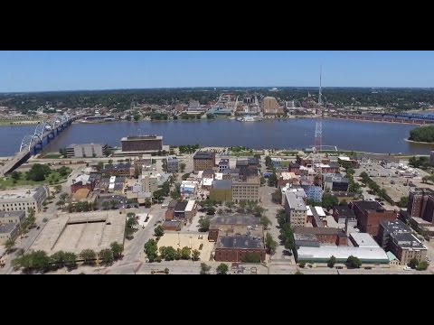 Downtown Rock Island Illinois (Drone)