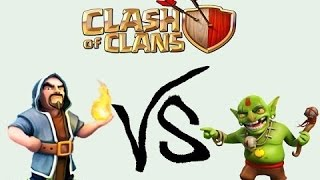 """Clash of Clans """" Mass WIZARD and GOBLIN Attack """""""