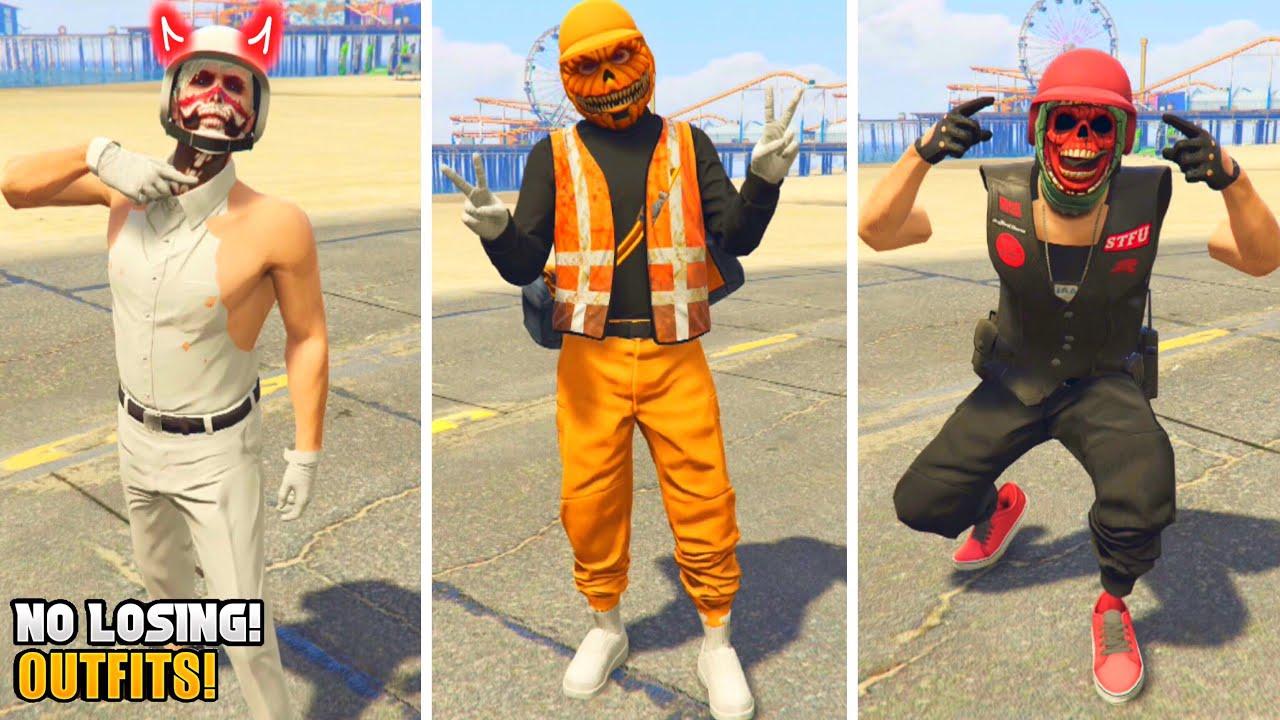 3 EASY HALLOWEEN OUTFITS! USING CLOTHING GLITCHES AFTER PATCH 1.51! (Gta 5 Halloween Update)