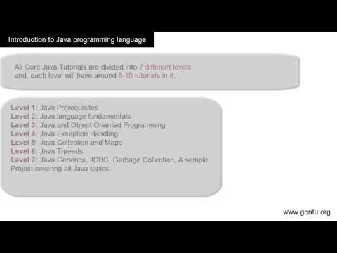 Core Java Tutorials 01 - Introduction to Java programming language ( A complete overview )