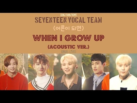 [ENG/HAN/ROM] SEVENTEEN Vocal Team - When I Grow Up (어른이 되면) [Acoustic ver.] [Orgel Live]