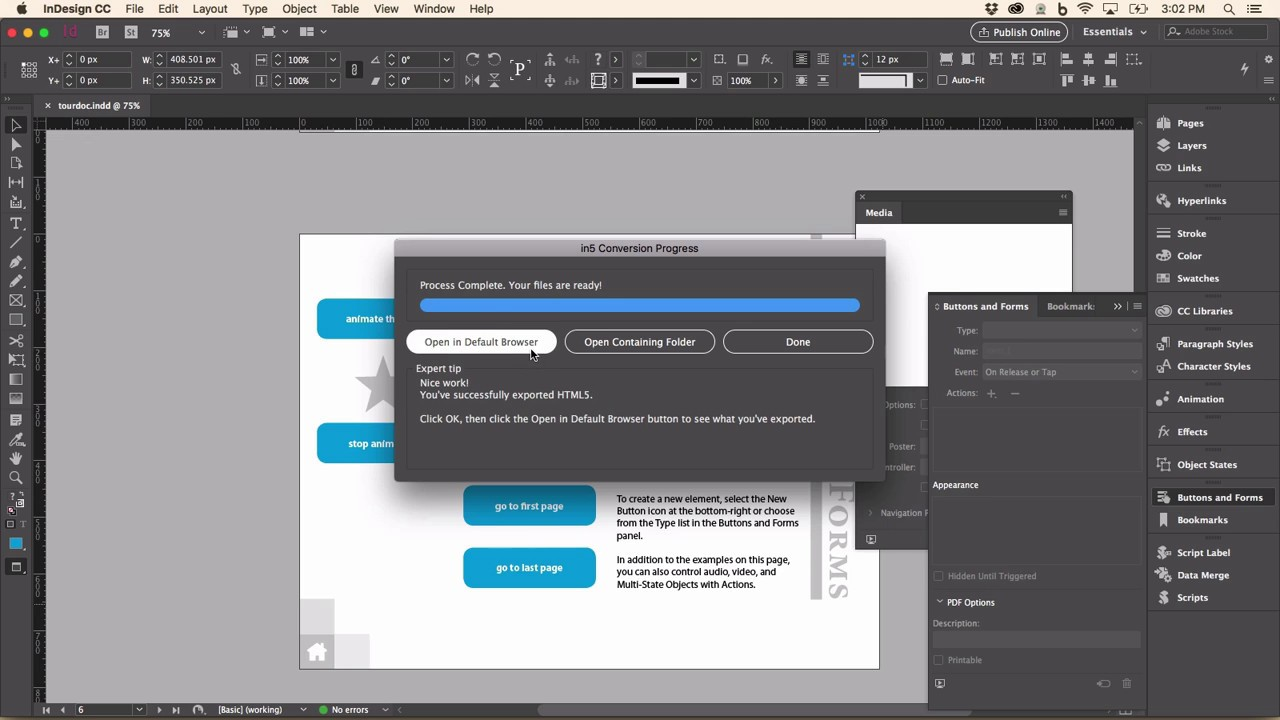 Up and Running with in5 (InDesign to HTML5) in Minutes!