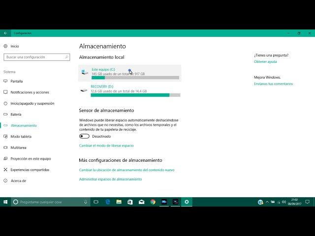 Eliminar Archivos Temporales en Windows 10