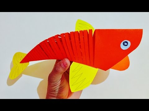 3D Moving Fish craft for kids | Quelling Paper Fish | Kids room decor