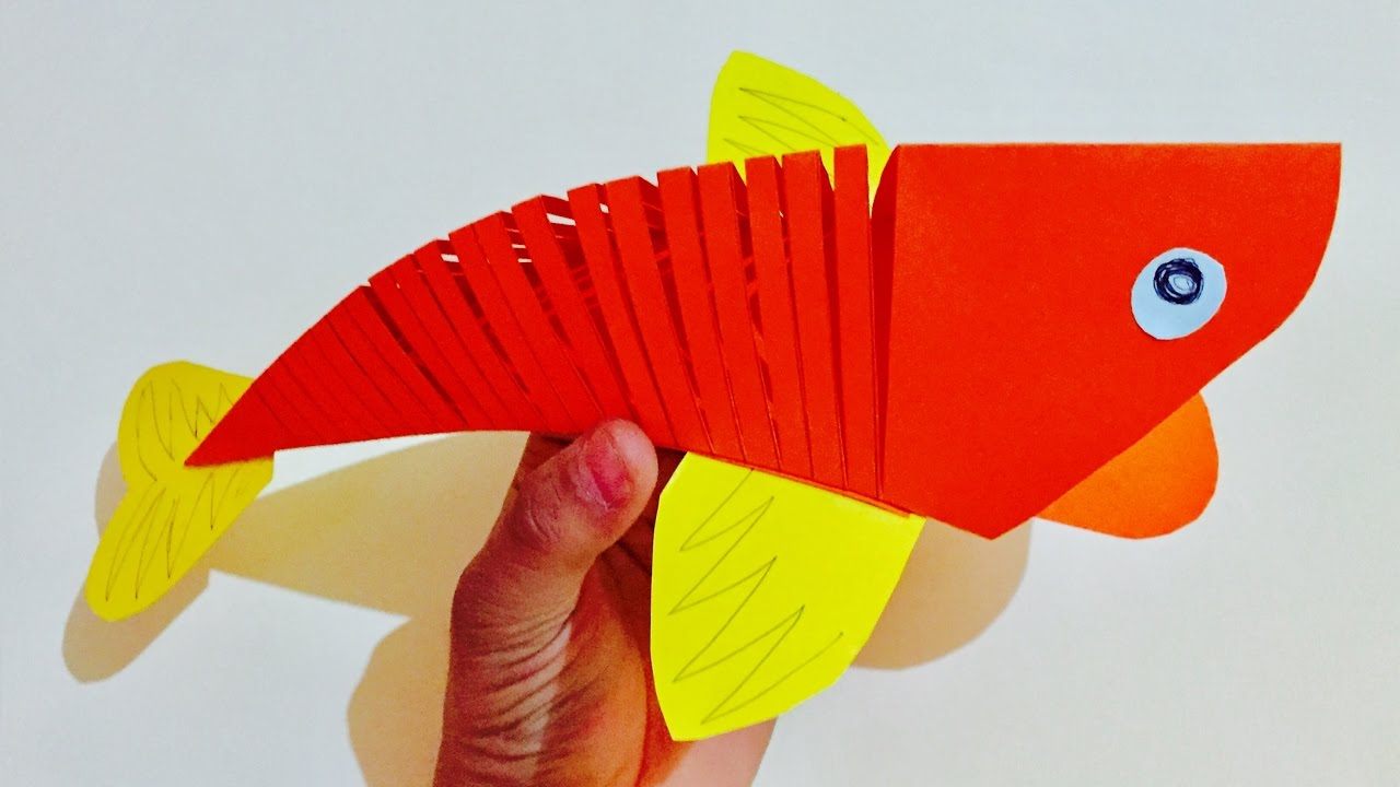 3d moving fish craft for kids quelling paper fish making 3d moving fish craft for kids quelling paper fish making tutorial kids room decor jeuxipadfo Choice Image