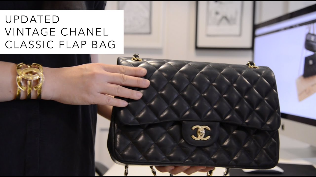Updated Vintage Chanel Classic Flap Bag