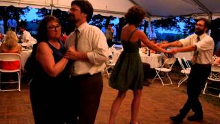 Beth, Glen, Meghan, and Kurt dance at Hannah's and Max's Wedding Reception