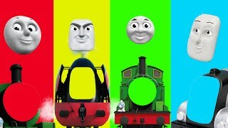 Baby Learn, Thomas and Friends, Funny Face Swap, Finger Family Nursery Rhymes Toy Train Kids Cartoon