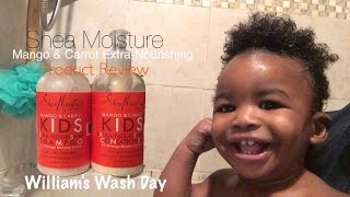 "Shea Moisture Kids: Extra Nourishing Shampoo & Conditioner ""Mango & Carrot"""