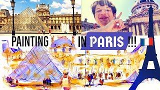 Painting PARIS w Watercolor Urban Sketching VLOG Part 1
