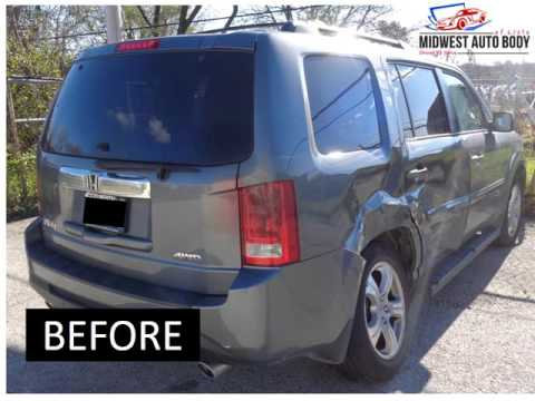 2013 Honda Pilot Before and After Auto Body Repairs