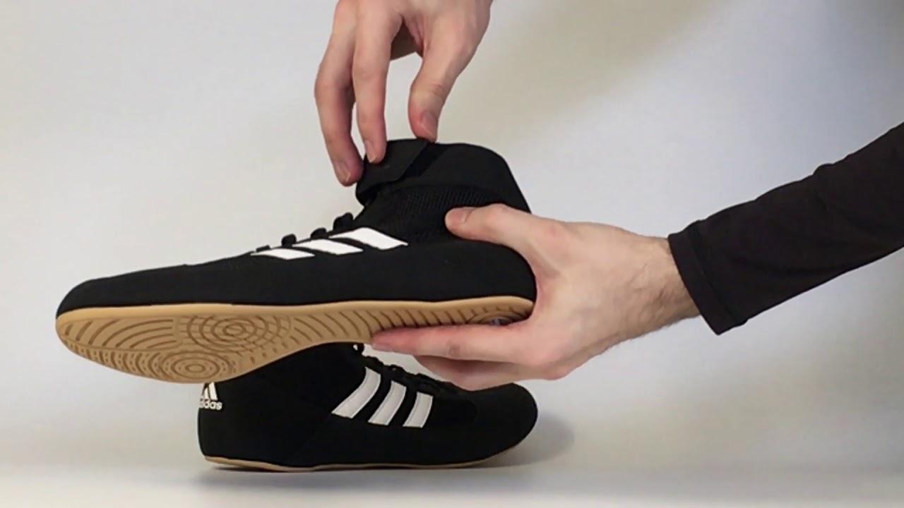 Zápasnická obuv adidas HVC - černá hnědá - YouTube c30d9d714de