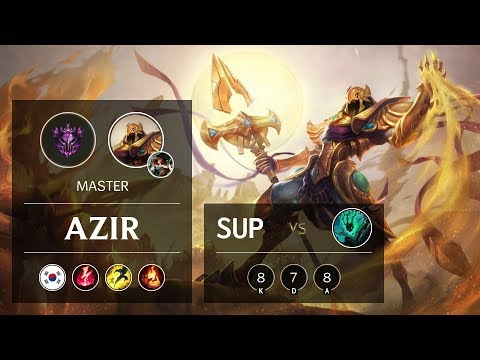 Azir Support vs Thresh - KR Master Patch 9.24