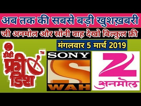 DD Free Dish Ke 2channel Sony Wah And Zee Anmol Dekho Free To Air Without C Line||Bharti Free Dish