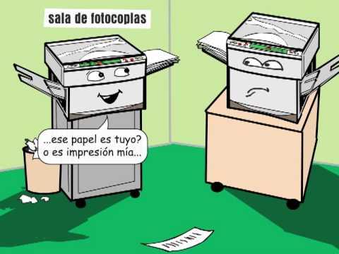 Fotocopiadoras chiste r youtube for Chistes de oficina
