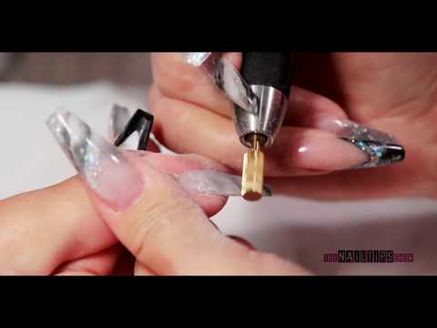 Marble Nail Design with Acrylic