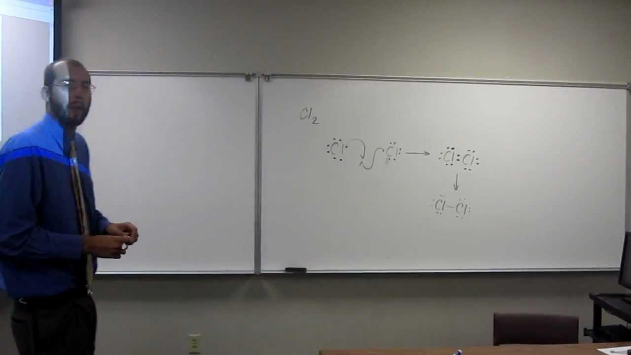 lewis dot structures molecules diatomic gases chlorine cl2 009 [ 1280 x 720 Pixel ]