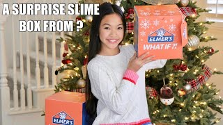 Holiday Slime Surprise Challenge: Making Beachy Butter Slime!
