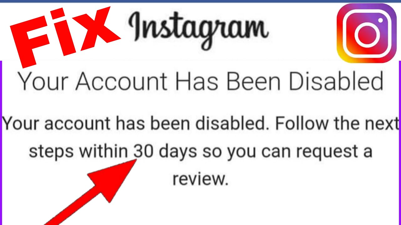 Instagram Account Disabled for 20 Days☑️how to recover instagram account  android ios apple recovery