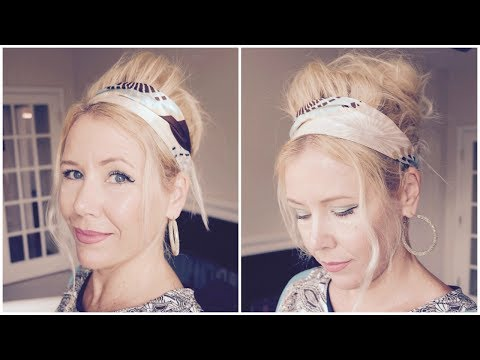 60s HAIR TUTORIAL: UPDO WITH A BUMP!