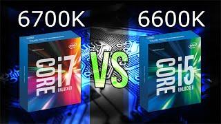 intel i7 6700k vs i5 6600k