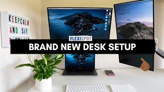 My Brand New Desk Setup - Work From Home Office Tour + Standing Desk