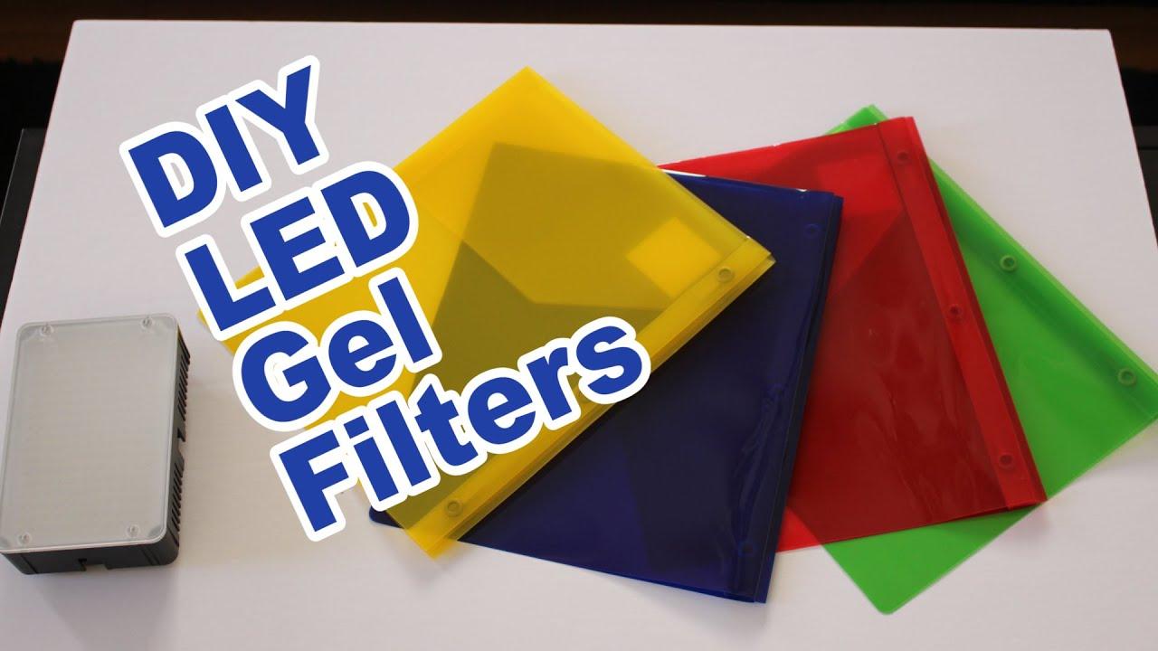 super cheap diy led gel filters youtube